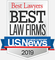 """Logo, Best Lawyers """"Best Law Firms"""", US News & World Report, 2019"""